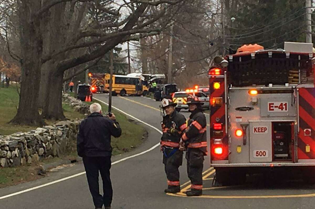 A motor vehicle accident that appears to involve at least one school bus occurred on King Street near St. Paul Church. The area of 1252 King Street is closed due to a