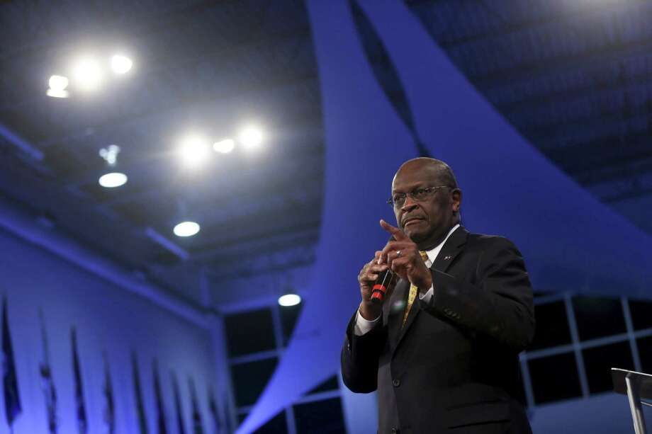 President Donald Trump is considering nominating Herman Cain, who abandoned his 2012 presidential bid in the face of escalating accusations of sexual misconduct, for a seat on the Federal Reserve Board. Photo: MICHAEL APPLETON /NYT / NYTNS