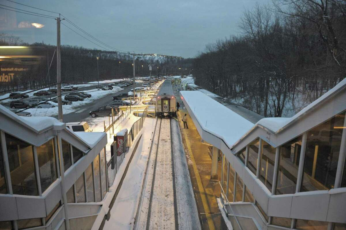 A Metro North train waits at the Southeast, New York, train station on Wednesday, February 4, 2015. There were extensive delays on the Harlem line due to a train and car collision on Tuesday night.