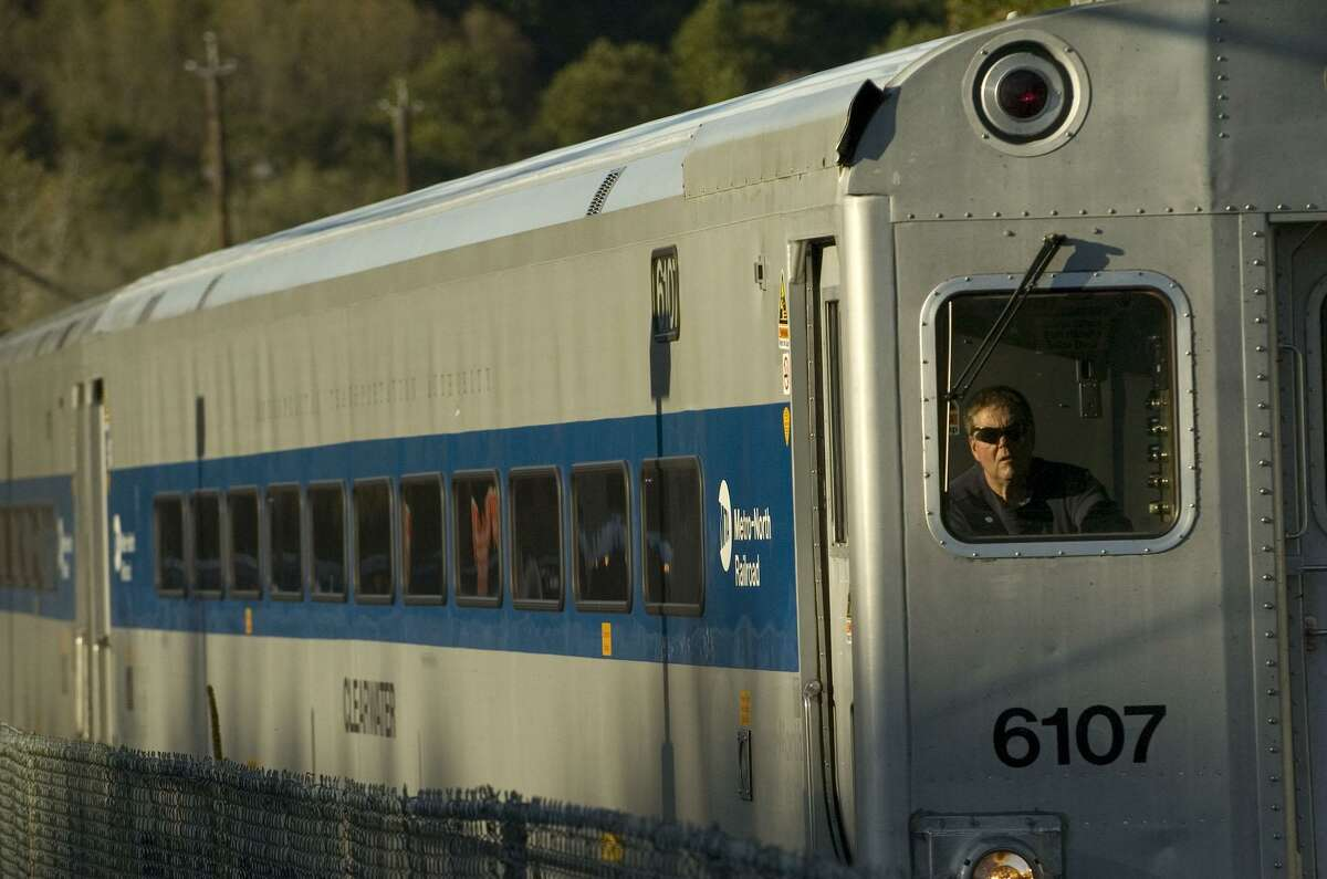 A Metro-North passenger train arrives at the Southeast train station in Brewster, N.Y., on Friday, Oct. 7, 2011.
