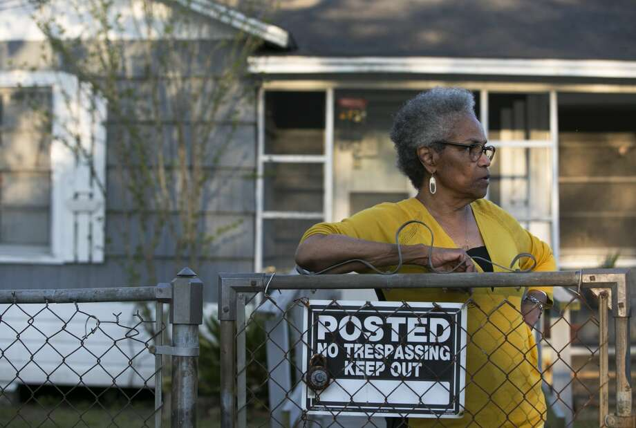 Barbara Beal, 75, said she moved into this house on Lavender Street in the Kashmere Gardens neighborhood when she was nine years old, grew up here, and lived here on and off during her adulthood. She moved back full-time several years ago to take care of her elderly mother, who later died. Beal was diagnosed with stage-one lung cancer last year and went through five radiation treatments. Photo: Yi-Chin Lee/Staff Photographer