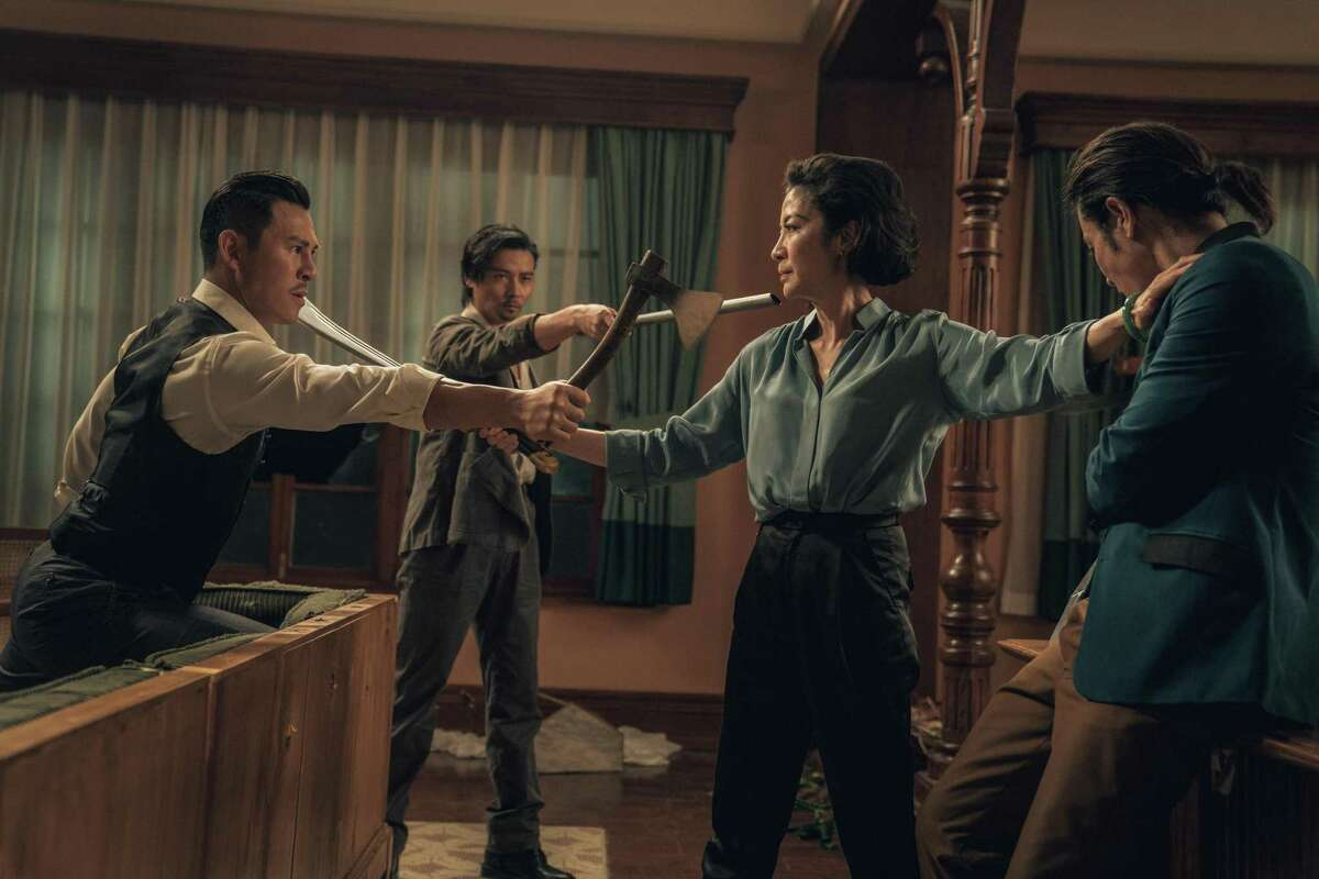 Xing Yu, Max Zhang, Michelle Yeoh, and Kevin Cheng in 'Master Z: Ip Man Legacy'