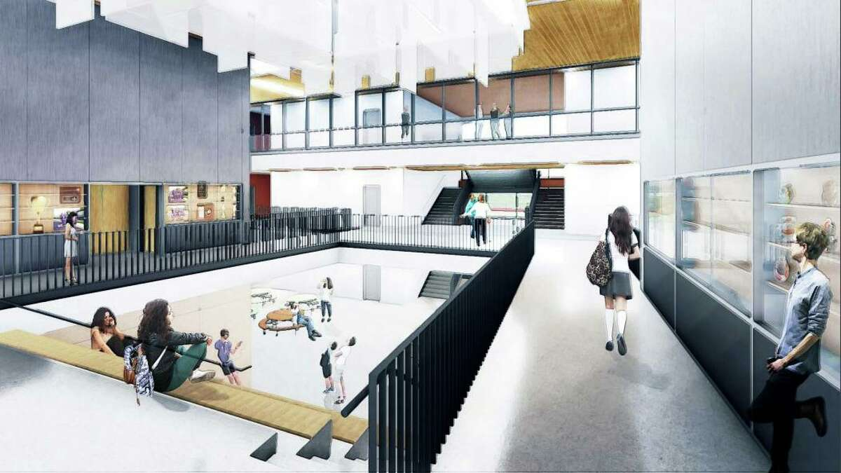 Shown are plans for an interior portion of Middletown's Woodrow Wilson Middle School project, presently under construction.