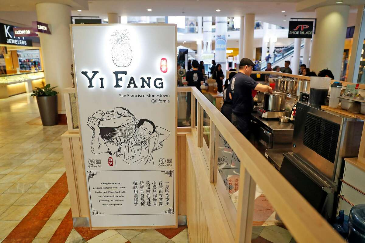 Yi Fang Taiwan Fruit Tea at Stonestown Galleria in San Francisco is among the many new Asian eateries that have opened in the past few years in the mall.