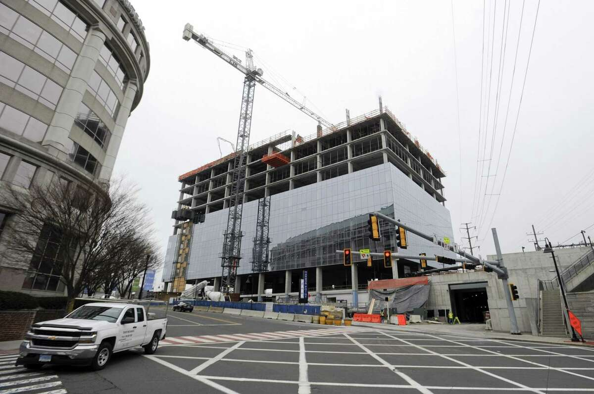 Charter Communications, which will eventually make this 15-story glass tower its headquarters, photographed on Tuesday, won the right on Monday to expand and build a second, nine-story building connected by a three-story lobby at the Gateway site, just south of Interstate 95 in Stamford's South End.