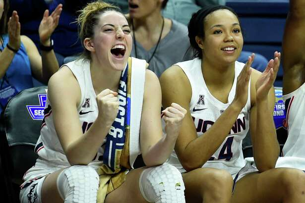 UConn's Katie Lou Samuelson (33) and Napheesa Collier (24) inseparable on and off the court, are expected to to be Top-10 picks in Wednesday's WNBA draft.