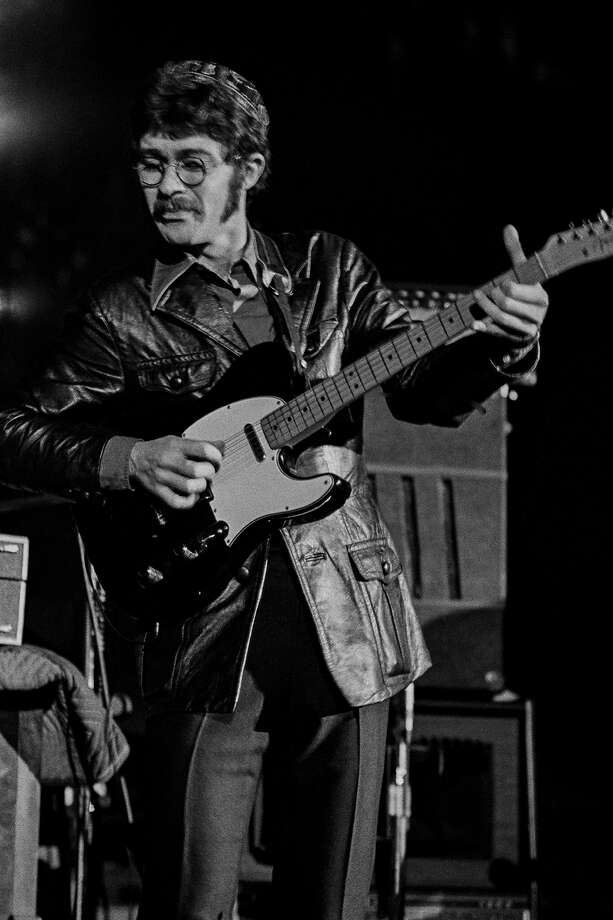 The Band guitarist, Robbie Robertson, performs during one of the group's debut performances on April 18, 1969 at San Francisco's Winterland Ballroom.