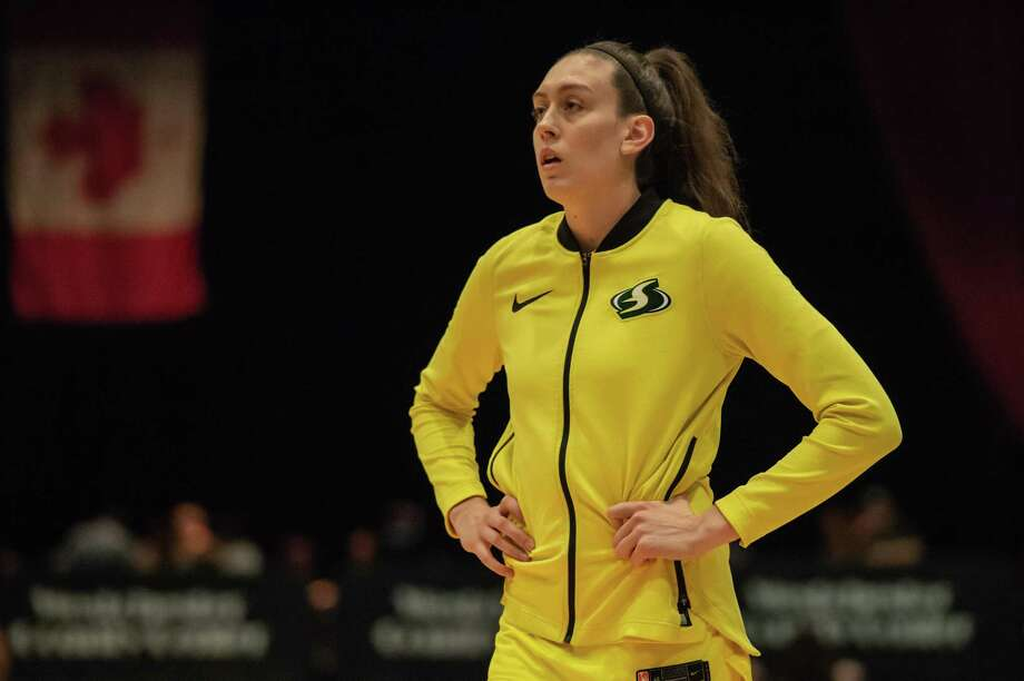 Reigning WNBA MVP Breanna Stewart was helped off the court during the EuroLeague Women championship game with what appeared to be a serious leg injury. (File photo) Photo: Icon Sportswire / Icon Sportswire Via Getty Images / ©Icon Sportswire (A Division of XML Team Solutions) All Rights Reserved