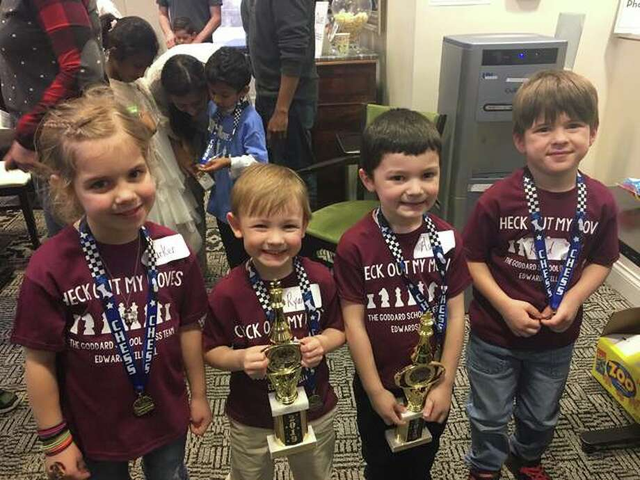 The Goddard School in Edwardsville was represented by Parker K., Ryan S, Asher G. and Rand W. at the 4th annual Goddard School St. Louis Market Chess Tournament in St. Louis last weekend.