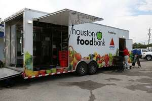 The Houston Food Bank's mobile food pantry