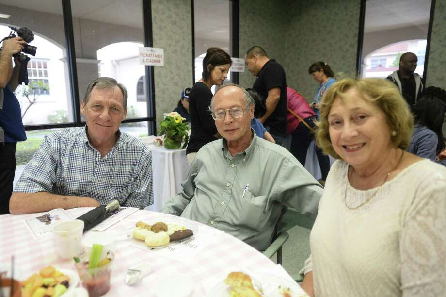 Jan and Paul Beenen and Harold Morgan during Breakfast with the Bishop at St. Anne Parish Hall Saturday morning. Photo taken on Friday. Ryan Welch/The Enterprise Photo: Ryan Welch / The Enterprise / ©Ryan Welch
