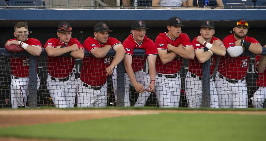Texas Tech players watch from the dugout 04/09/19 as they take on New Mexico State at Security Bank Ballpark. Tim Fischer/Reporter-Telegram Photo: Tim Fischer/Midland Reporter-Telegram