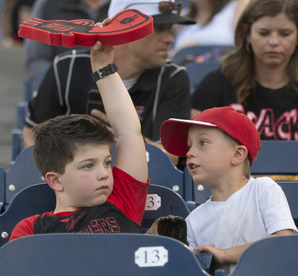 Texas Tech fans young and old come out 04/09/19 as the Red Raiders take on New Mexico State at Security Bank Ballpark. Tim Fischer/Reporter-Telegram