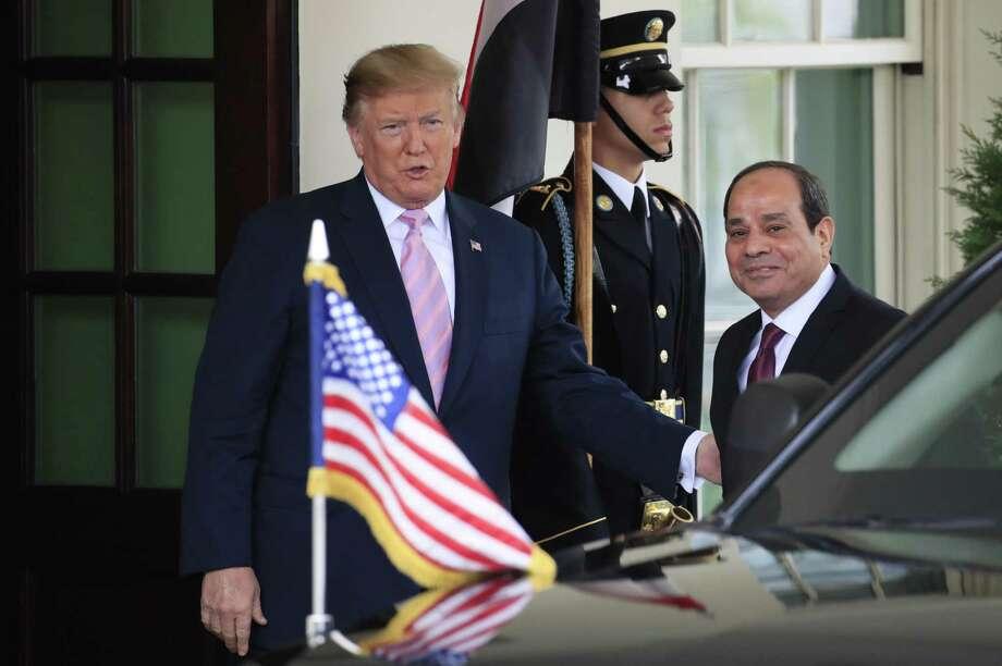 El presidente Donald Trump recibe en la Casa Blanca al presidente egipcio Abdel Fattah al-Sisi, Washington, martes 9 de abril de 2019. Photo: Manuel Balce Ceneta /Associated Press / Copyright 2019 The Associated Press. All rights reserved.