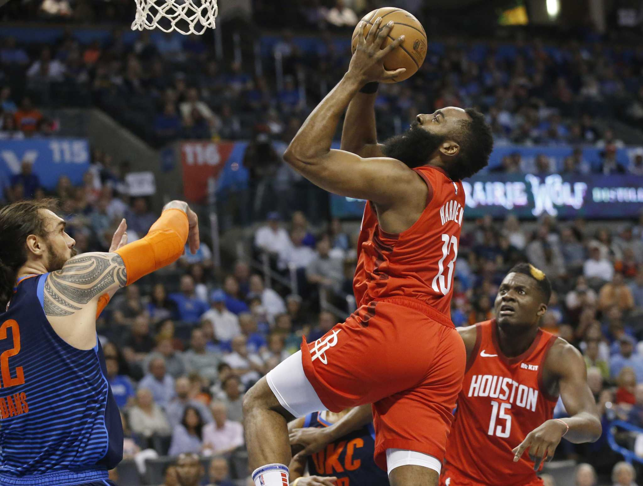 c6a4f0f0193f Rockets lose to Thunder in final seconds to allow No. 2 seed to slip from  grasp