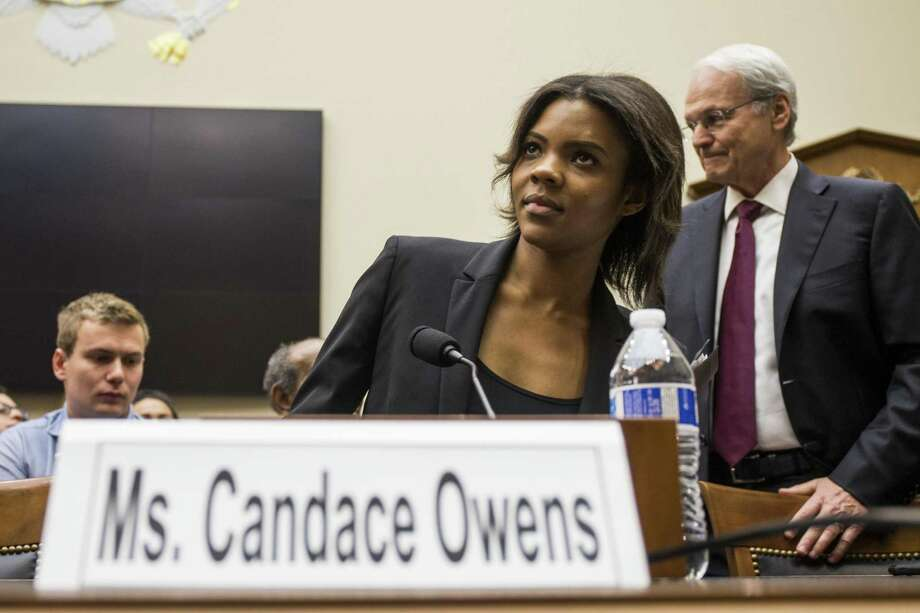 WASHINGTON, DC - APRIL 09: Candace Owens of Turning Point USA arrives before testifying during a House Judiciary Committee hearing discussing hate crimes and the rise of white nationalism on Capitol Hill on April 9, 2019 in Washington, DC. Internet companies have come under fire recently for allowing hate groups on their platforms. (Photo by Zach Gibson/Getty Images) Photo: Zach Gibson / Getty Images / 2019 Getty Images