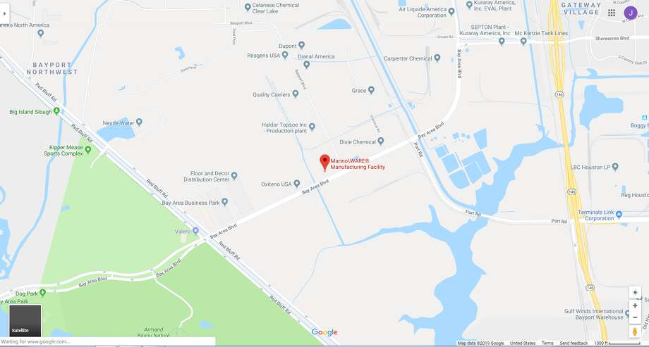 FILE - A screenshot of a Google Maps image of the Marino/Ware plant in Pasadena, Texas. Tuesday, the New Jersey-based manufacturer announced it would be closing the plant and laying off 69 workers. Photo: File/Google