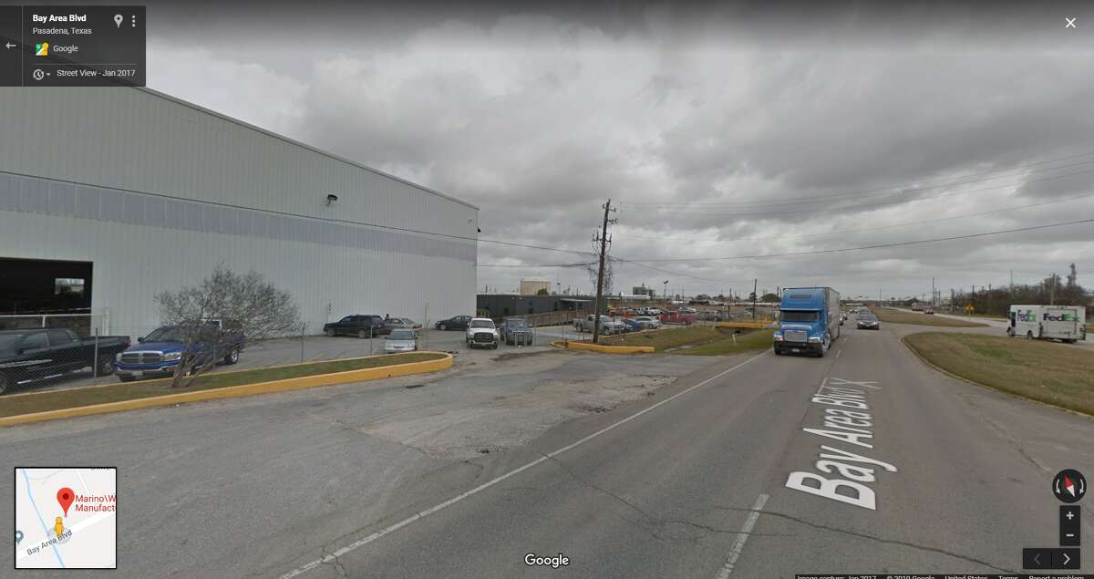 FILE - A screenshot of a Google Maps image of the Marino/Ware plant in Pasadena, Texas. Tuesday, the New Jersey-based manufacturer announced it would be closing the plant and laying off 69 workers.
