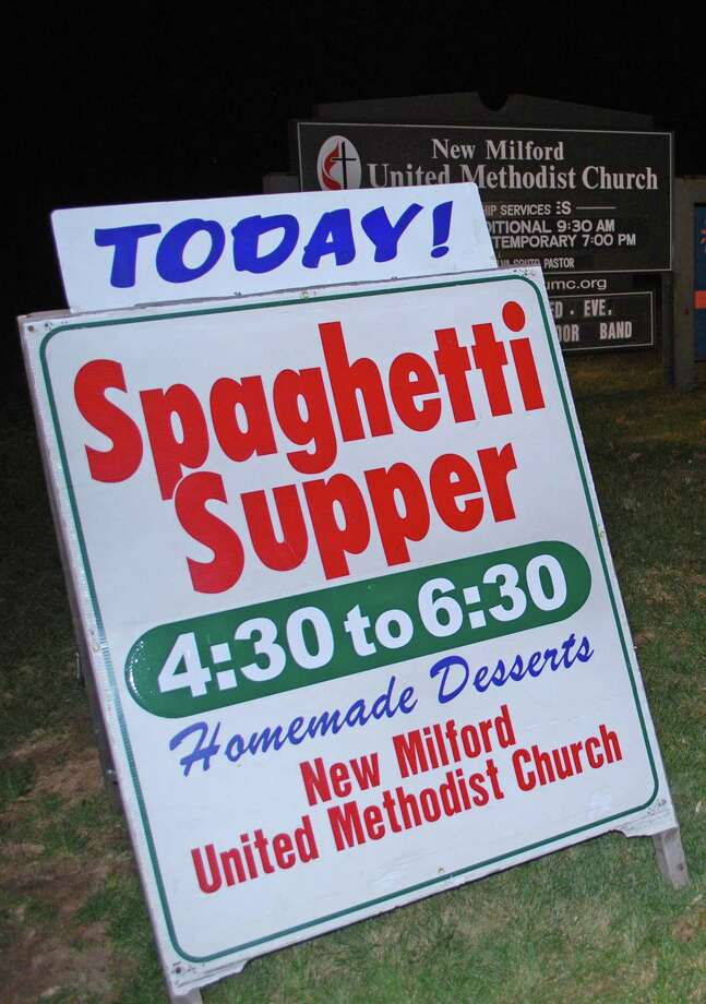 The New Milford United Methodist Church's monthly spaghetti suppers are open to the public. The next one will be April 13, 2019. Photo: Deborah Rose / Deborah Rose / The News-Times