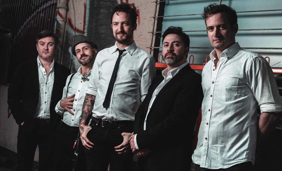 Frank Turner, center and his band will play Oakdale Theatre. Photo: Live Nation / Contributed Photo / Lukas Rauch