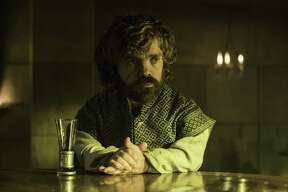 "In this image released by HBO, Peter Dinklage, who plays Tyrion, appears in a scene from ""Game of Thrones."""