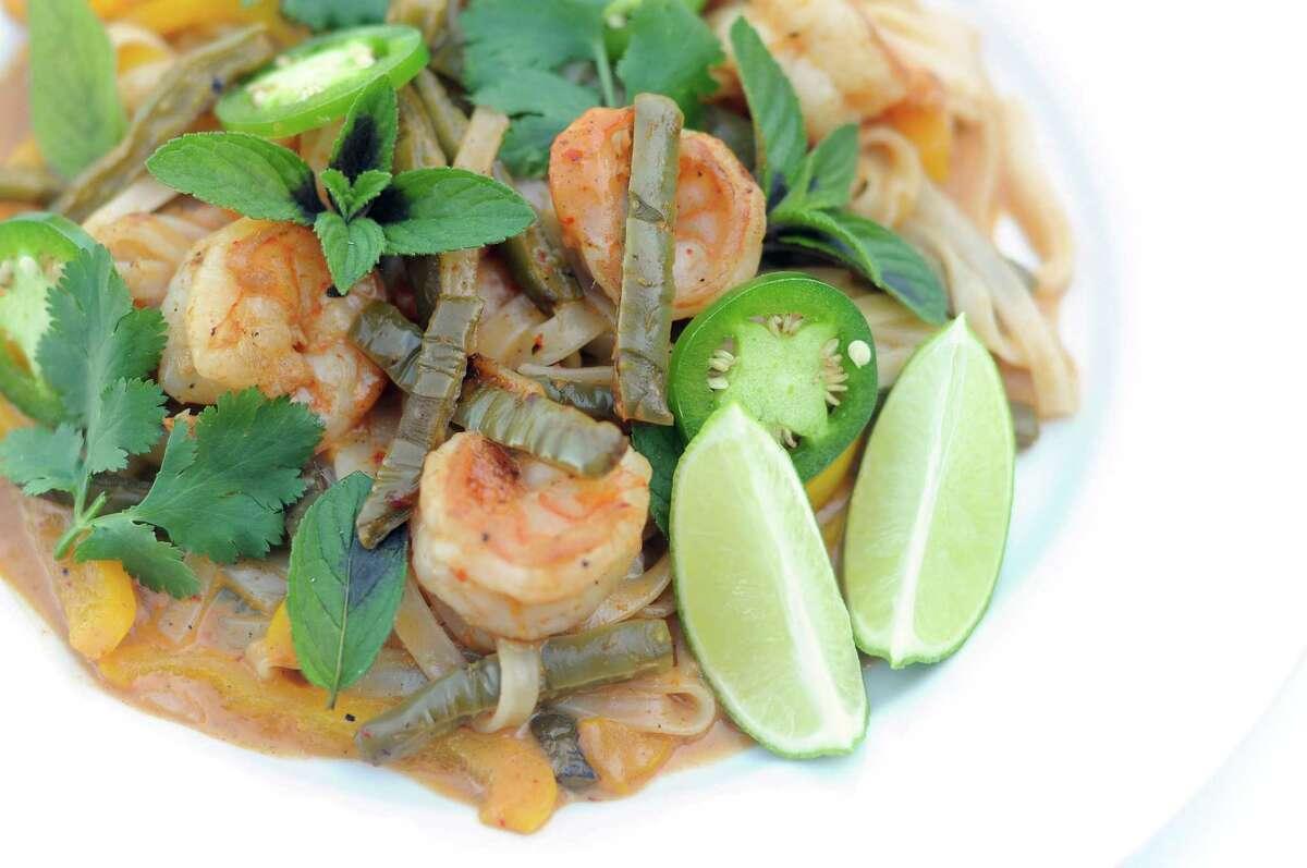 Thai-style Nopal and Shrimp Curry