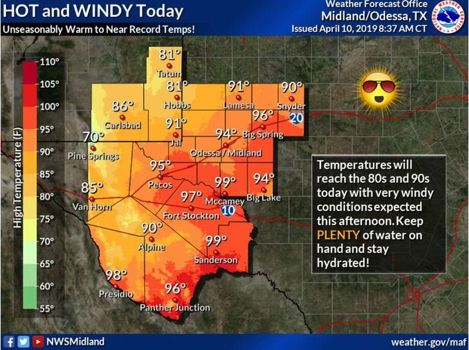 High temperatures today will range from unseasonably warm to near record high.
