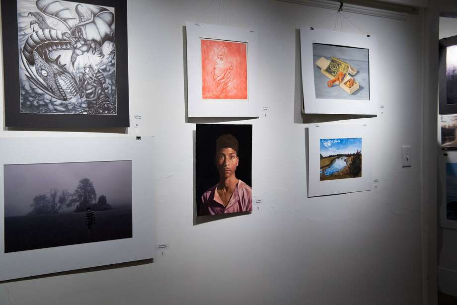 Students from Coginchaug Regional High School in Durham, Haddam-Killingworth High School and Valley Regional High School of Deep River had their artwork recognized recently by the Hartford Art School. Photo: Cathy Wilson Ramin Photo / Cathy Wilson Ramin Photography