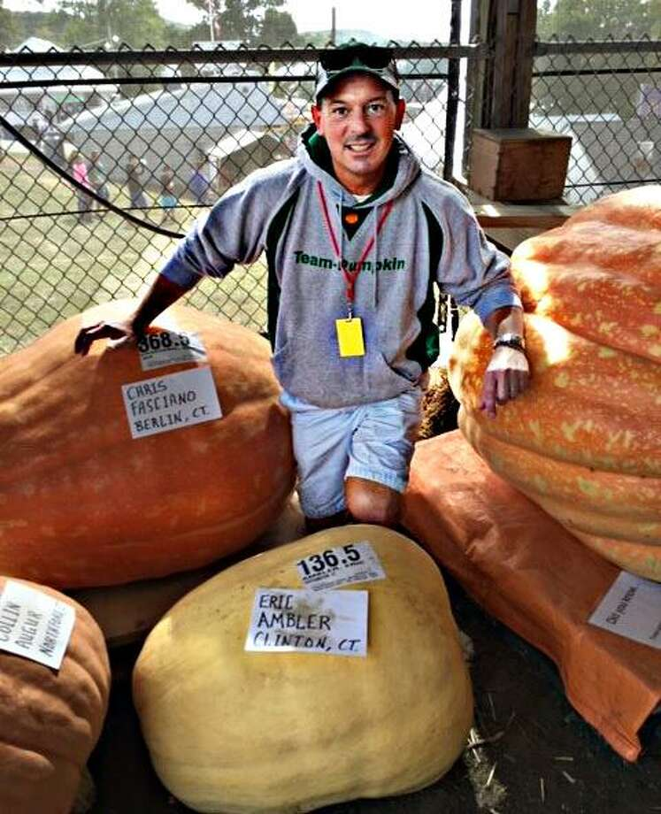 """A free """"How to Grow Your Own Giant Pumpkin"""" seminar will take place at the Durham Fair Grounds April 28 at 2 p.m. Shown is Eric Ambler, Team-Pumpkin member and Durham Fair Giant Pumpkin Committee member. Photo: Richard Manley Photo"""
