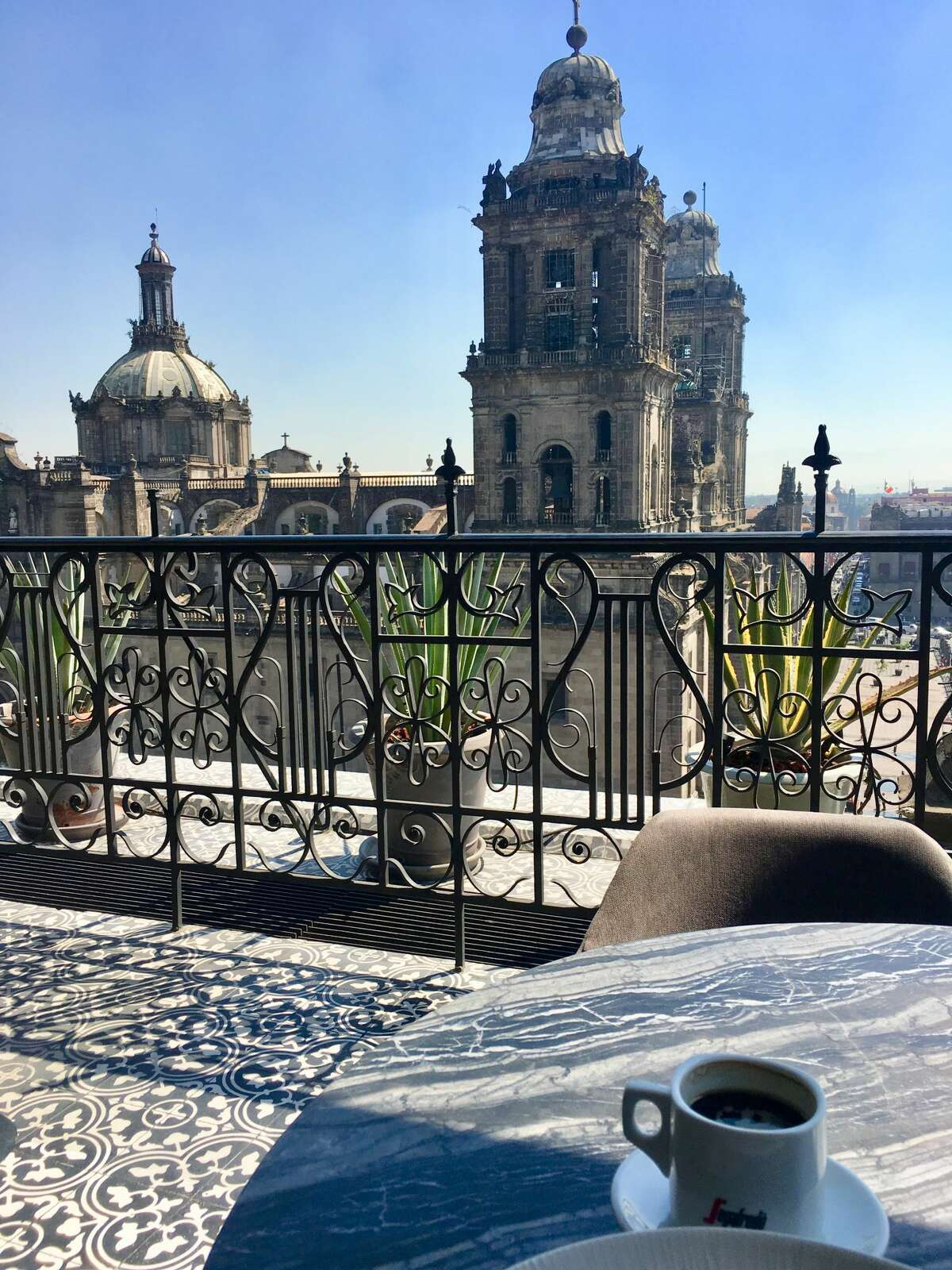 Brunch is better with a view, which you'll find at El Balcon del Zocalo.