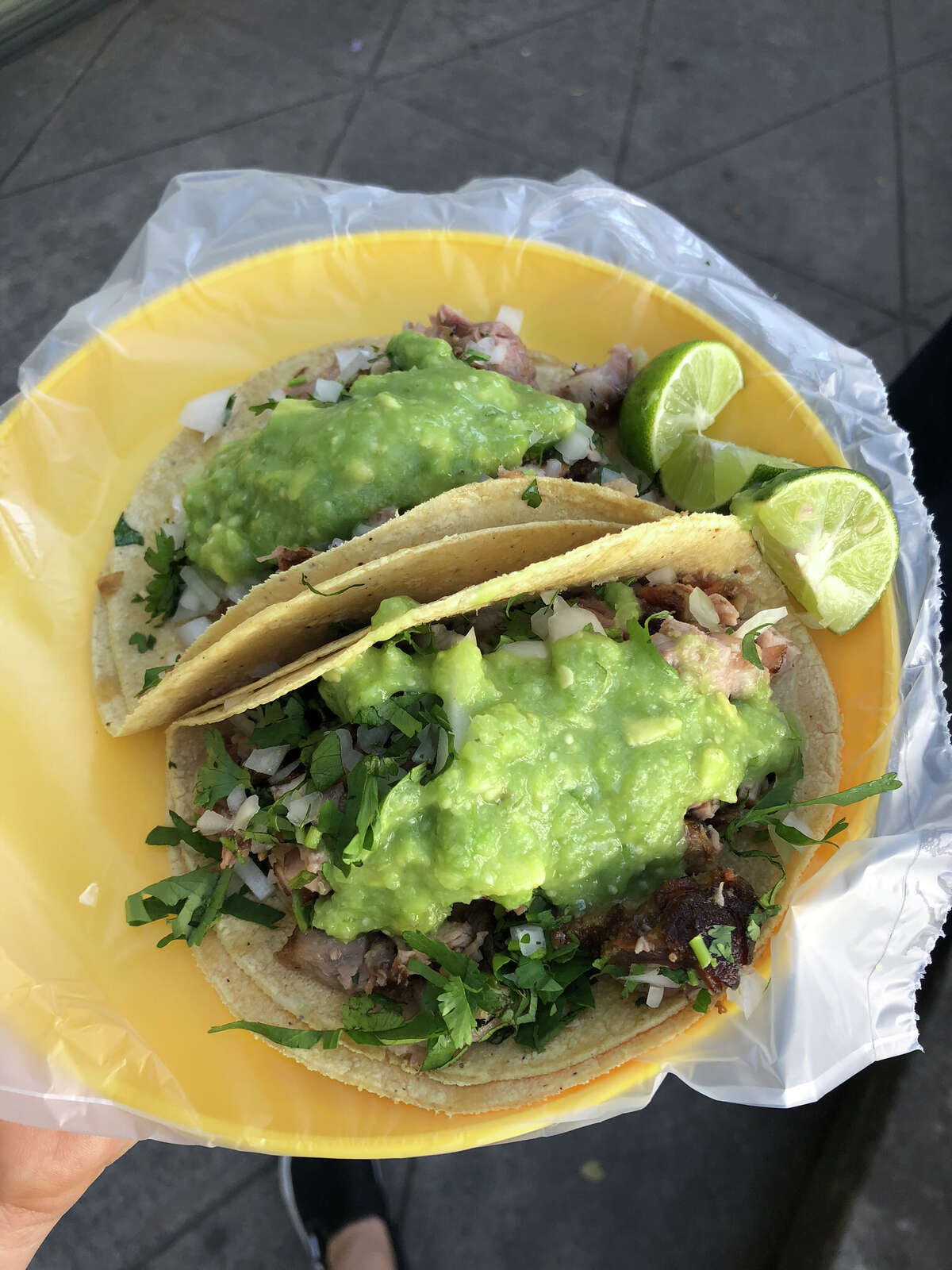 The carnitas tacos at Tacos Don Juan in Condesa. They're only available there Fridays and Saturdays.