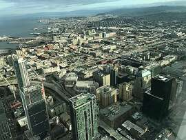 The view from the 61st floor of the Salesforce Tower