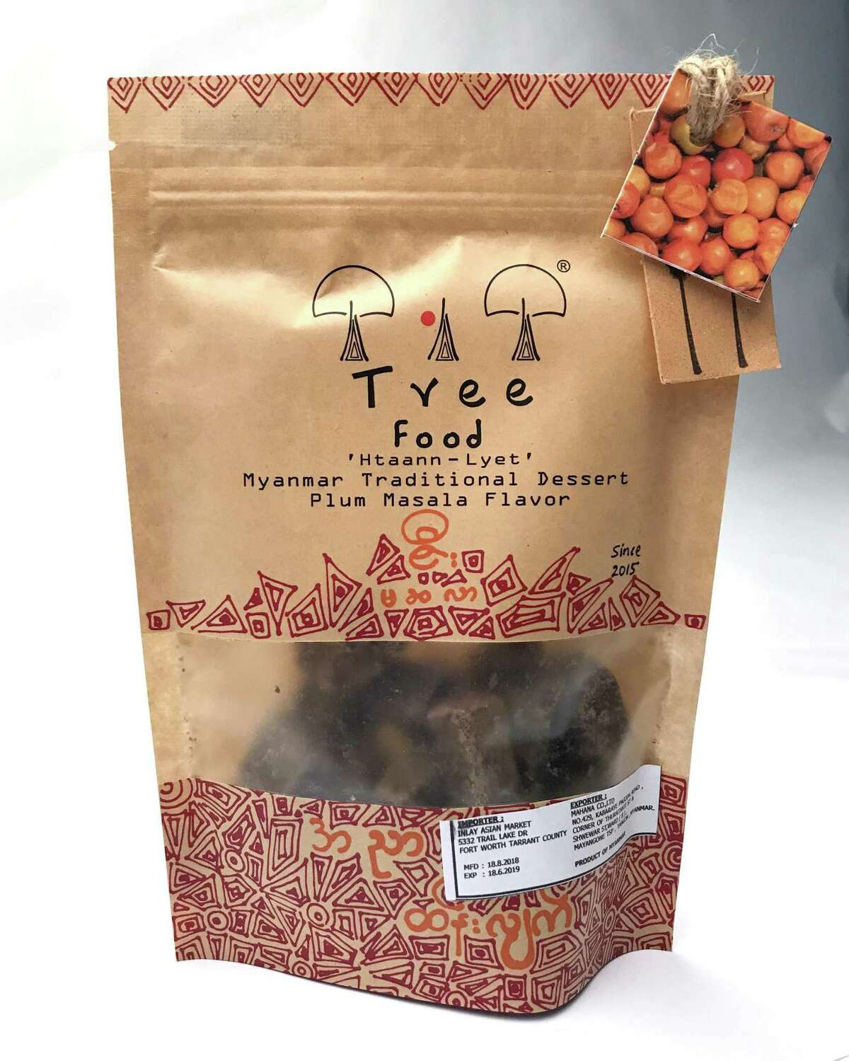 Plum, masala and chile palm jaggery candy made by Tree Food can be found at Burmese Foods.