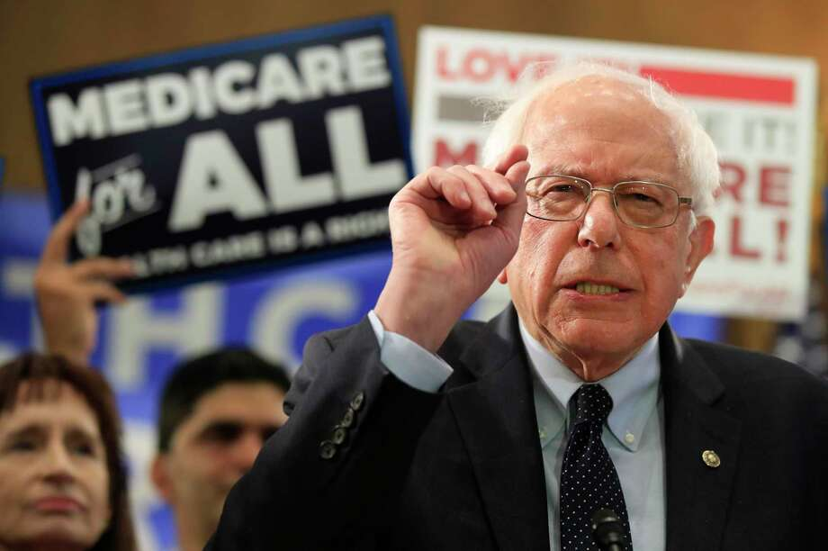 Sen. Bernie Sanders, I-Vt., introduces the Medicare for All Act of 2019, on Capitol Hill in Washington, Wednesday, April 10, 2019. Photo: Manuel Balce Ceneta / Associated Press / Copyright 2019 The Associated Press. All rights reserved.