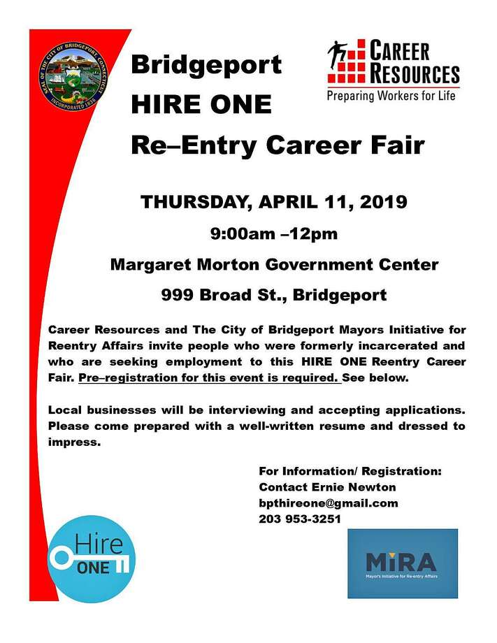 A flyer provided for the career fair on Thursday, April 11, 2019, in Bridgeport, Conn. Photo: Contributed Photo / Contributed Photo / Connecticut Post Contributed