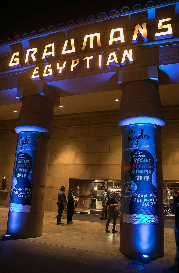 The Egyptian Theatre entry during the 23rd Annual Recent Spanish Cinema event on Oct. 19, 2017 in Hollywood, Calif. (Javier Rojas/EFE/Zuma Press/TNS) Photo: Javier Rojas/EFE, TNS