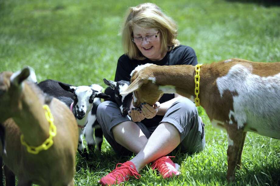 File photo of Lisa Agee, co-owner of Goatboy Soaps in New Milford, Conn. on Monday, July 27, 2015. Photo: Carol Kaliff / Hearst Connecticut Media / The News-Times