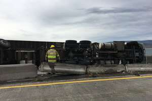 A semitractor-trailer rollover in Eastern Washington caused a four-lane closure of Interstate 90 on April 10. Cleanup lasted for several hours, causing eastbound lanes to be closed for several hours.