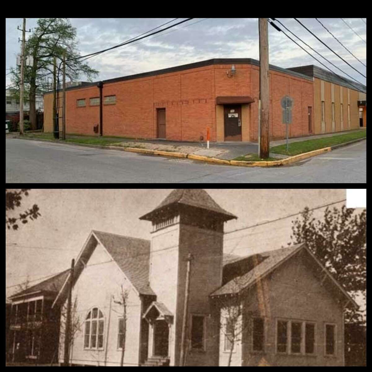 Orginally owned by the Higgins Oil & Fuel Company, the First Christian Church was sold in 1917 and later became the the Humble Branch of the Harris County Public Library in 1926.