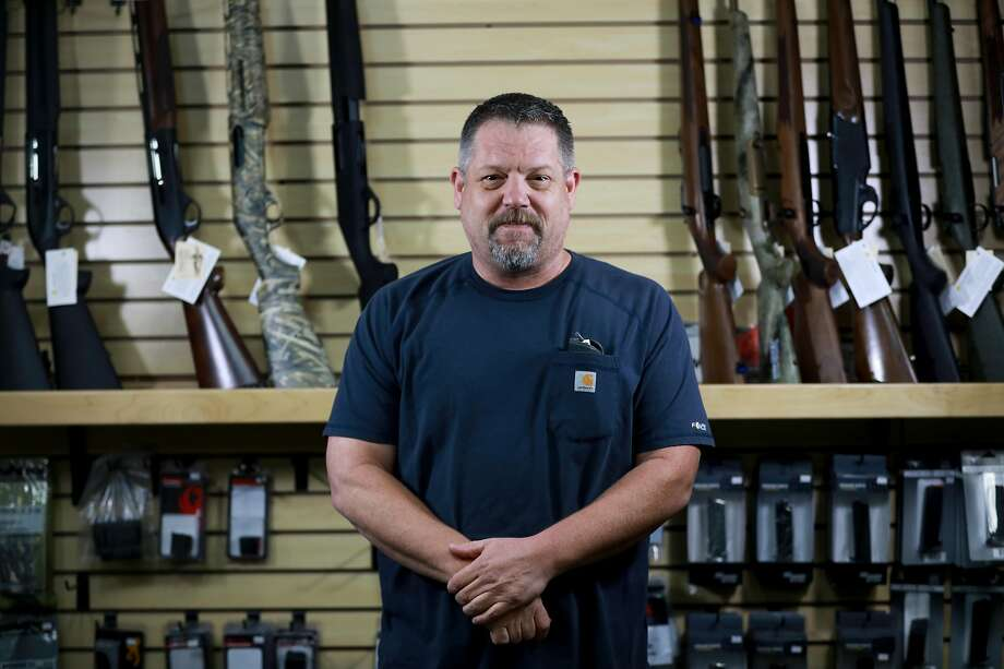 Parkin, owner of Coyote Point Armory in Burlingame, did not join the gun retailers profiting during the week the window on sales was open. Photo: Yalonda M. James / The Chronicle