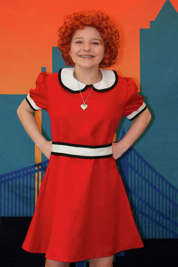 "Oliva Hirsh as Annie in ""Anie JR."" at the Cole Auditorium at Greenwich Library April 27 and April 28. Photo: Kyle LeMaire / Contributed Photo / Kyle LeMaire"