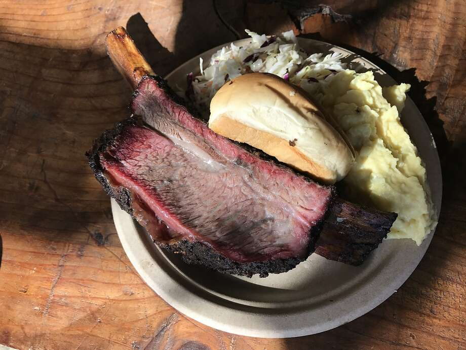 Smokin' Woods BBQ might be best known for its beef ribs. Photo: Janelle Bitker