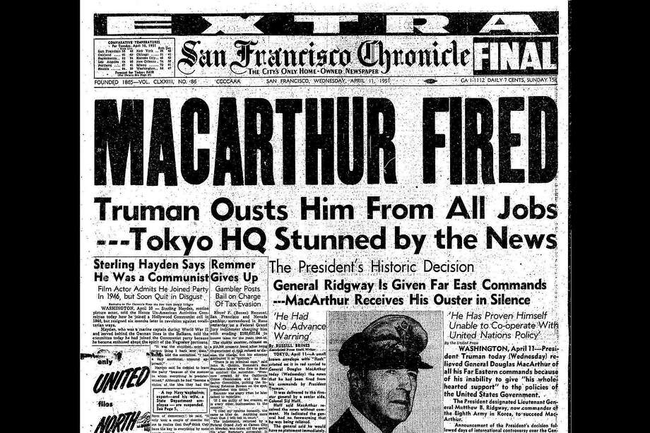 The April 11, 1951 front page of the San Francisco Chronicle Photo: The Chronicle