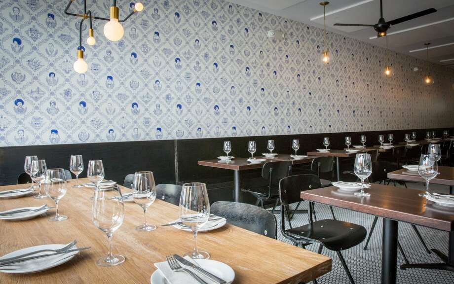 "The restaurant Fiorella is known for its food ... and its Instagram-famous wallpaper. Called ""Bay Area Toile"" the wallpaper has attracted the attention of diners and was even noted on a list of Bon Appetit's coolest restaurant trends for 2016. Photo: Grace Sager"