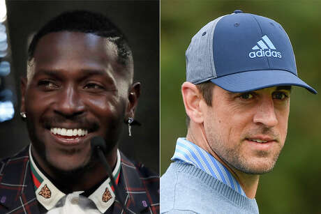 Oakland's Antonio Brown, left, and Green Bay's Aaron Rodgers made headlines this week lashing out at former teammates.