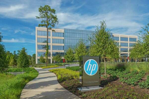 HP Plaza is at 10300 and 10400 Energy Drive in Springwoods Village. HP occupies the campus under a long-term lease.