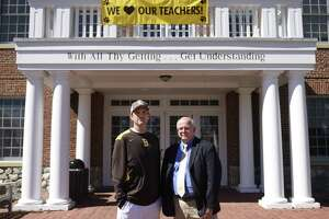 Brunswick teacher and coach James Duval, left, and Director of Safety and Security Michael DeAngelo  at Brunswick School in Greenwich