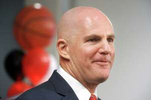 Jay Young was introduced as the new men's basketball coach at Fairfield University, in Fairfield, Conn. April 10, 2019.