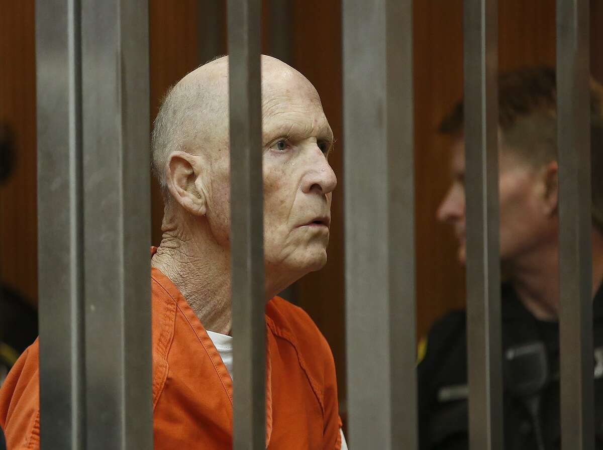 Joseph DeAngelo, suspected of being the Golden State Killer, appears in Sacramento County Superior Court on Wednesday, April 10, 2019, in Sacramento.