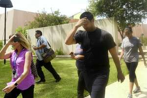 Ruben Hernandez, 26, leaves the federal courthouse in San Antonio on Thursday, July 26, 2018. He and fellow former Bexar County Detention Center guard Gabriel Robert Ortiz, 29, have been arrested on federal charges for their alleged roles in helping bring drugs into the Bexar County jail.